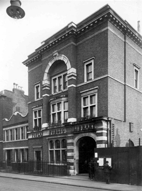Poplar Library, Poplar High Street, c1920. The library was opened in 1894 for which Crooks was one of the chief campaigners. The building now forms part of Tower Hamlets College