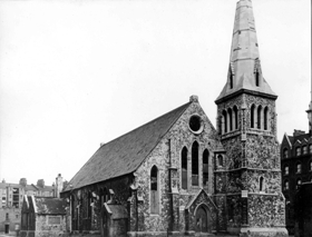 The church of St Thomas, Bethnal Green, prior to demolition in 1954