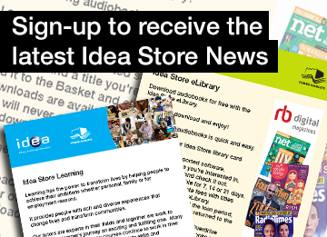 sign up to receive the latest idea store news