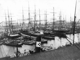 Shipping in the south West India Dock 1870s